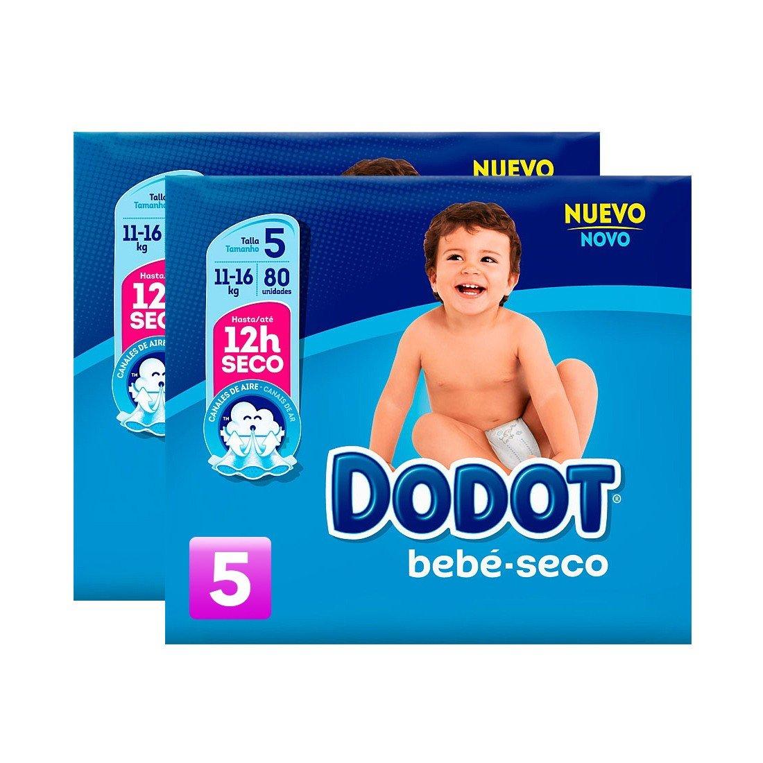 CAJA PAÑALES DODOT TALLA 5 (116 Unidades / DE 11 a 17 KG) : Amazon.es: Bebé