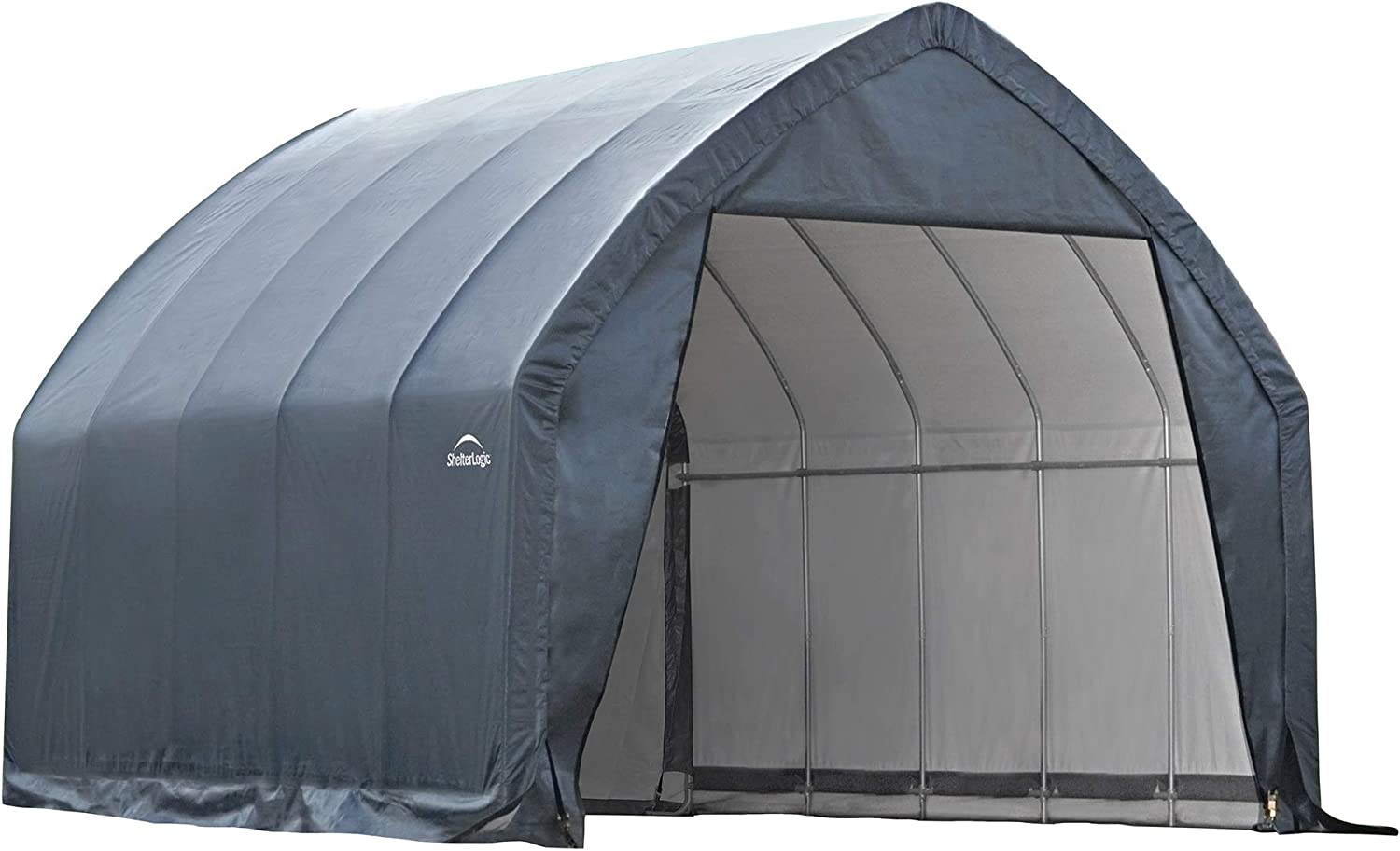 B003AQNKDU ShelterLogic Garage-in-a-Box SUV/Truck Shelter, Grey, 13 x 20 x 12 ft. 71yD9NpdbML.SL1500_