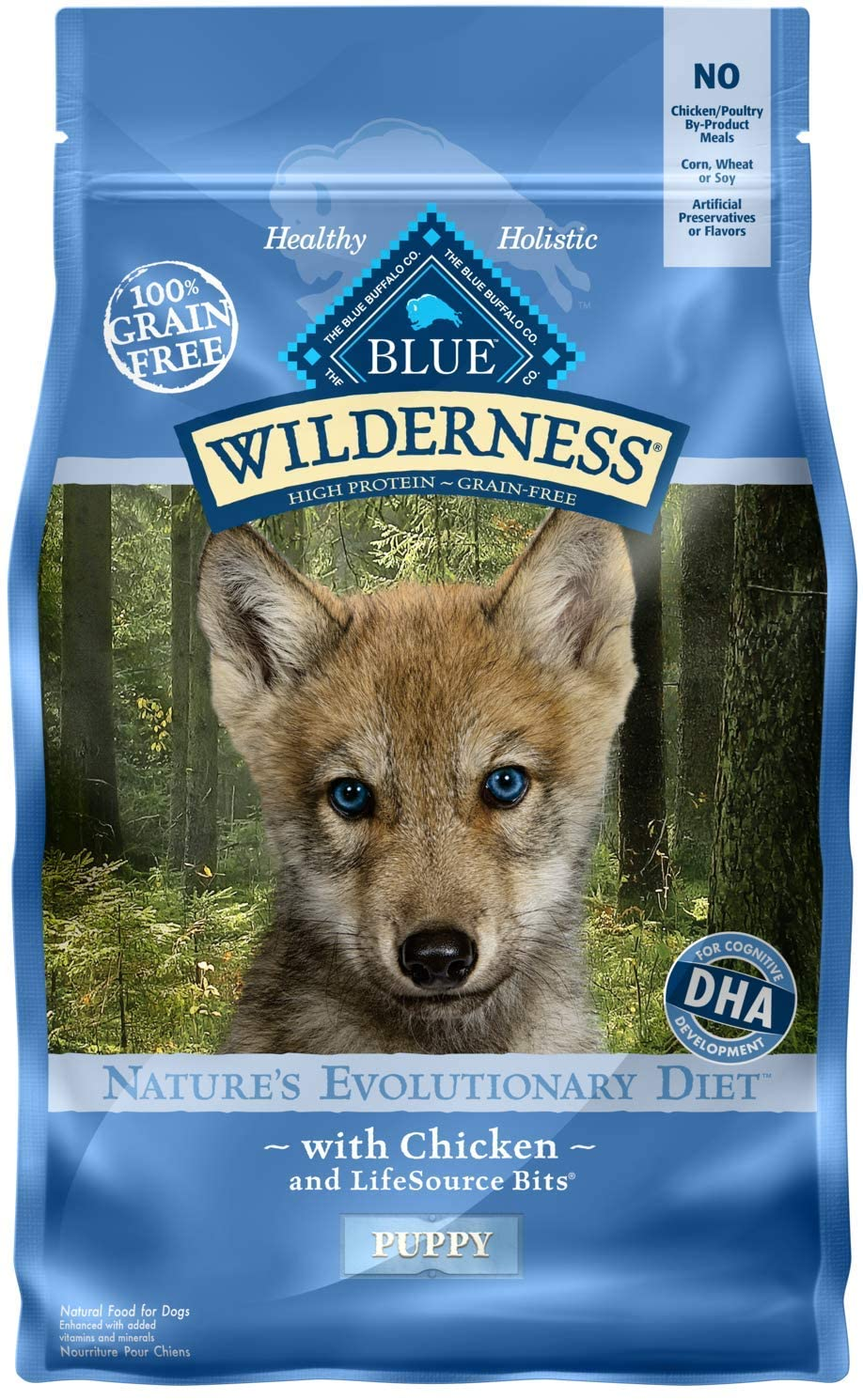 Blue Buffalo Wilderness High Protein Grain Free, Natural Puppy Dry Dog Food