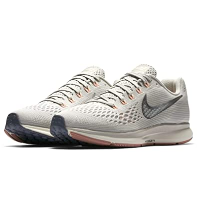 2e2e38ed7268f Nike Womens Air Zoom Pegasus 34 Low Top Lace Up Running, Beige, Size 11.0
