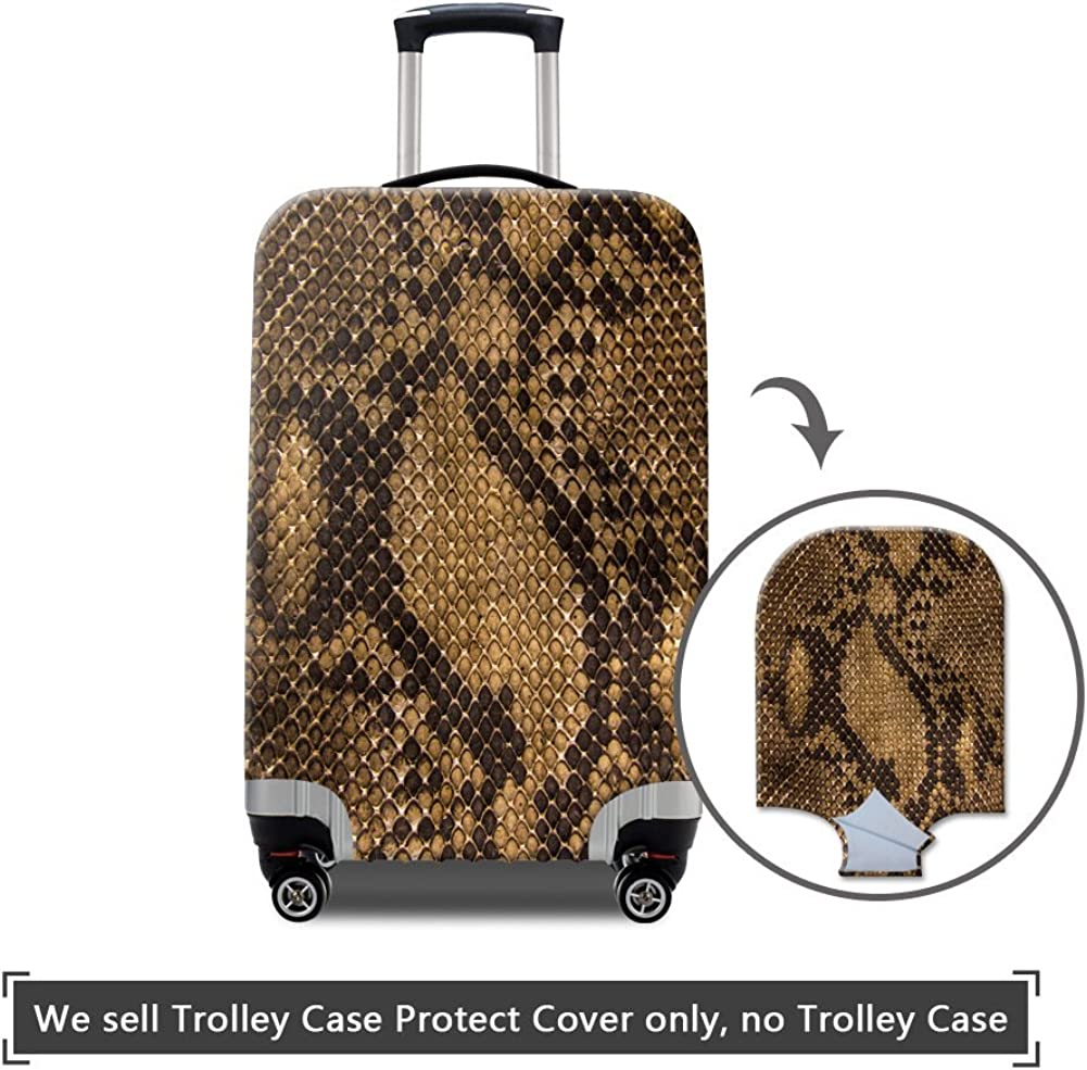 MR.TOWIN Leather Printed Luggage Cover Spandex Travel Suitcase Protective Cover 18-30 Inch
