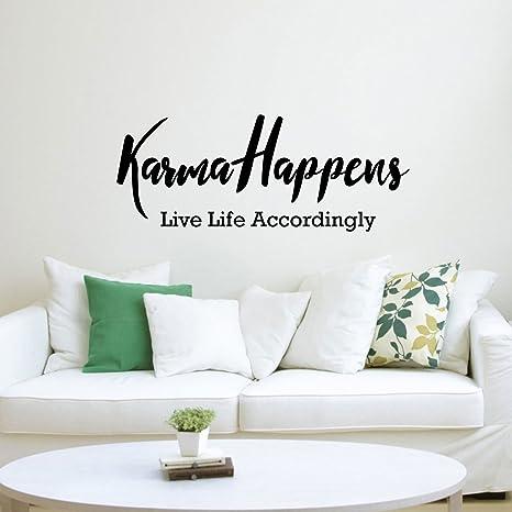 Amazon.com: Vinilo adhesivo para pared de pulso – Karma ...