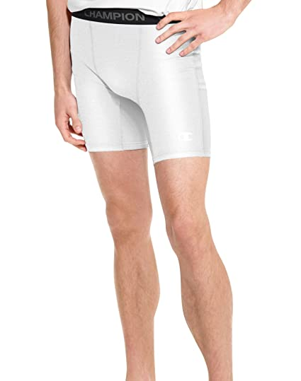 fd2bc0f4edc1 Image Unavailable. Image not available for. Color  Champion Men s Power Flex  Solid Compression Shorts 6-inch