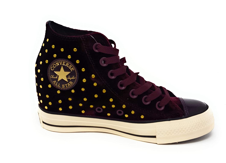 68c5cd4b1f Amazon.com | Converse CTAS Lux Mid Hidden Wedge Dark Sangria/Black/ Turtledove | Fashion Sneakers