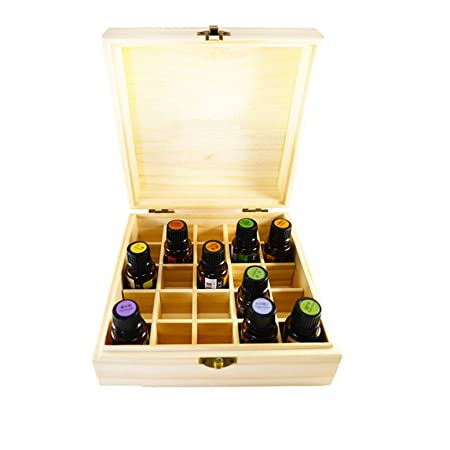 CHSEEO Caja de Aceites Esenciales para 25 Botellas Caja de Almacenamiento de Aceite Contenedor Estuche Organizadores para Cuentagotas, Aceite Esencial, CosméTica #1 ...