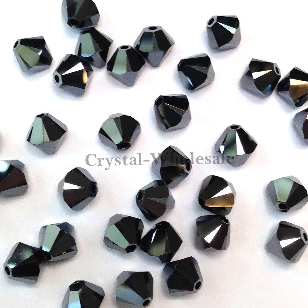 72 Swarovski 5328 XILION Crystal Bicone Beads Jewelry Making 5mm black JET 280