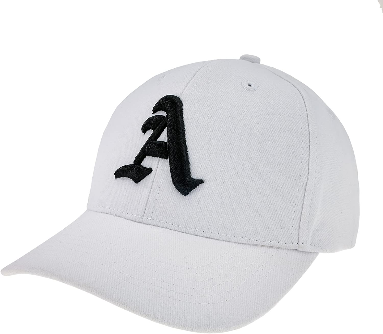 4sold Casquette R/églable Casquette de Baseball Inscription Lettrage Noir Blanc Hip-hop Star Chapeau