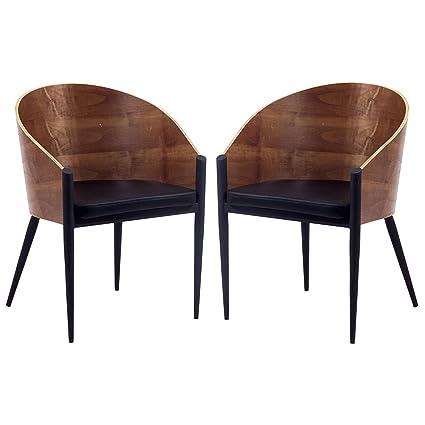 Superbe Modway Philippe Starck Style Pratfall Chair Set Of 2