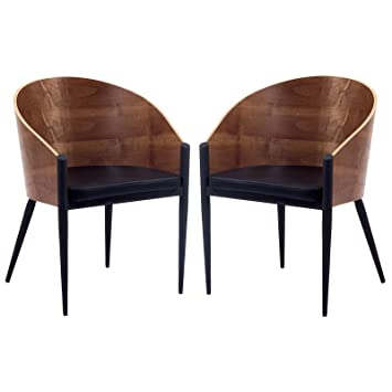 Bon Modway Philippe Starck Style Pratfall Chair Set Of 2