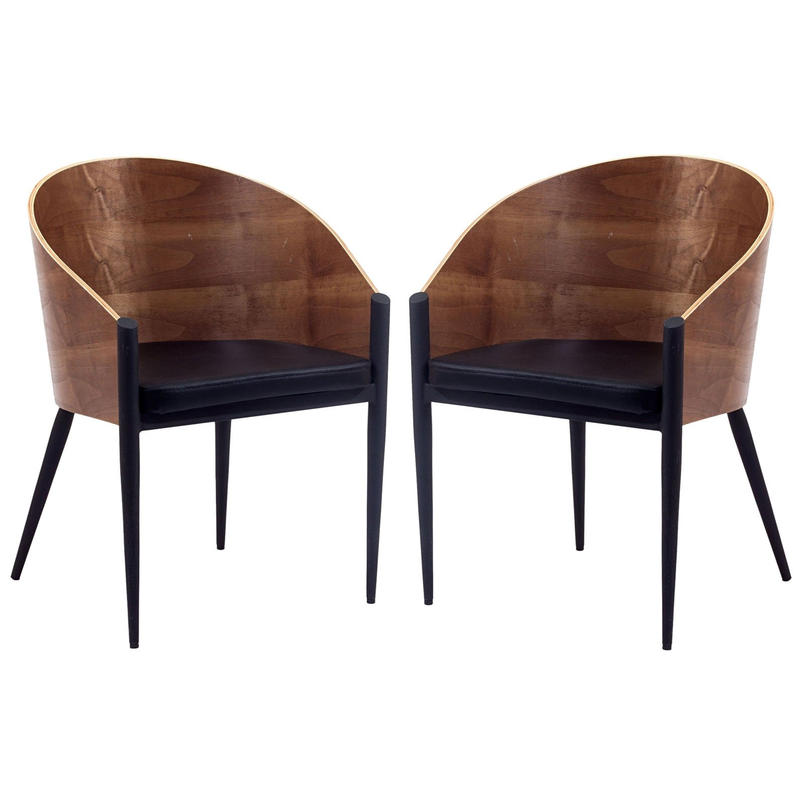 Modway Philippe Starck Style Pratfall Chair Set of 2