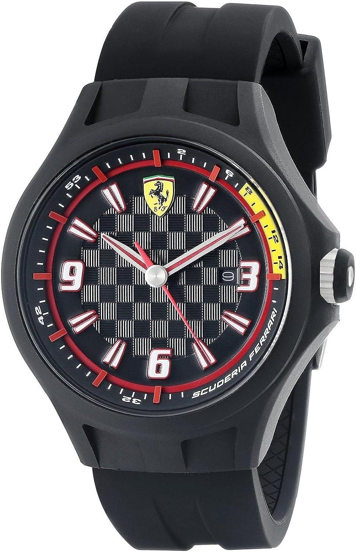 Ferrari 830005 - Reloj analógico de Cuarzo para Hombre, Correa de Silicona Color Negro