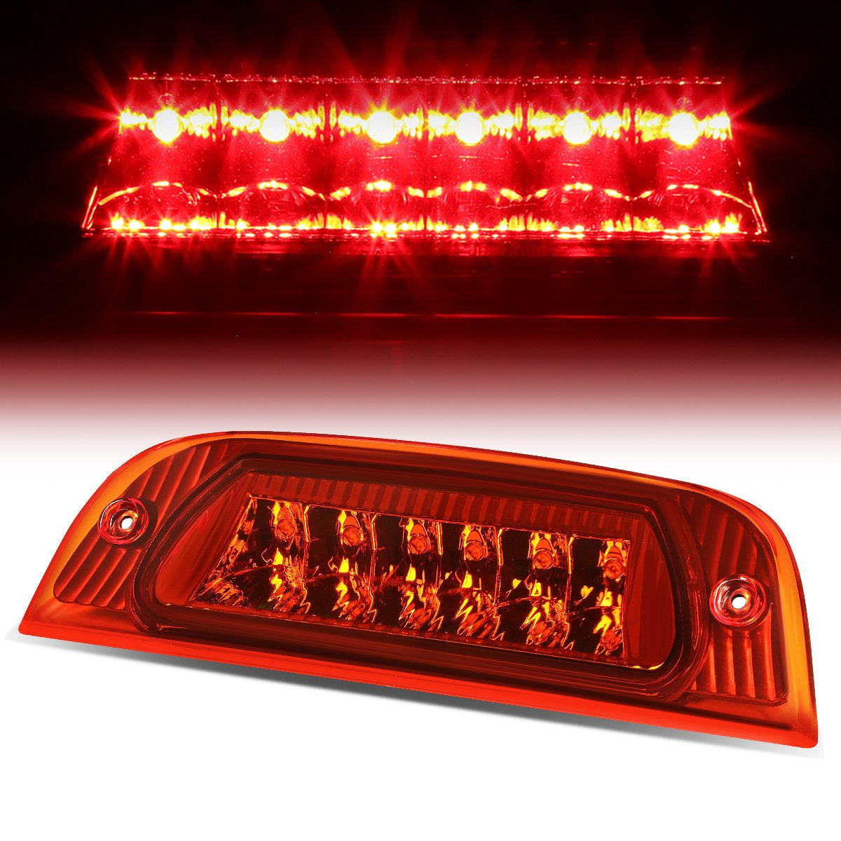 For Jeep Liberty Kj Rear High Mount Led 3rd Brake Light Stop Wiring 1985 Nissan Pickup Red Lens Automotive