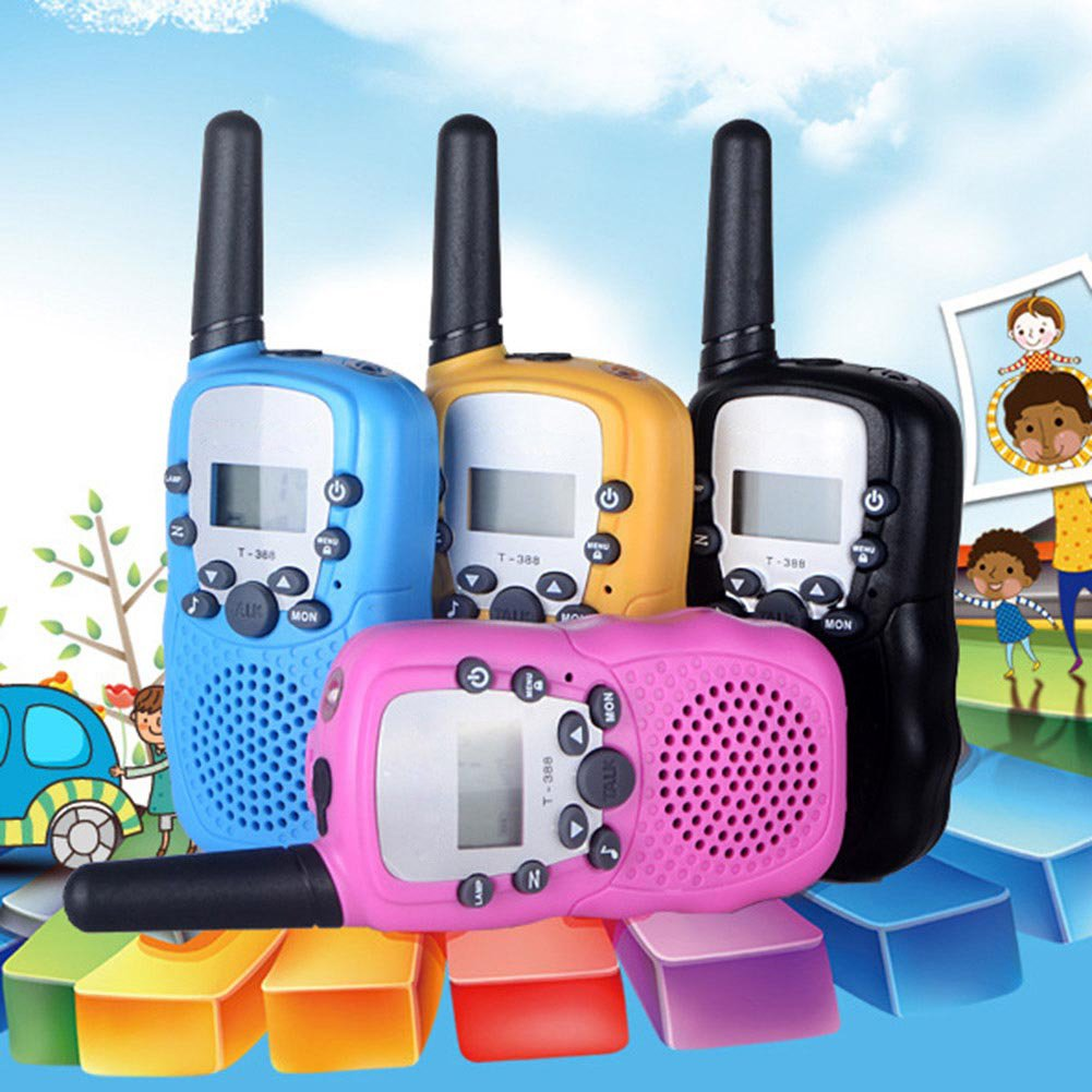 Egoelife Kids Walkie Talkies Two Ways Radio Long Range 22 Channel with US Charger(4 Packs) (Blue, Pink, Black, Yellow) by Egoelife (Image #6)