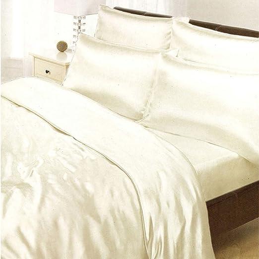 Copripiumino Satin.Amazon Com Cream Satin Double Us Full Duvet Cover Fitted Sheet