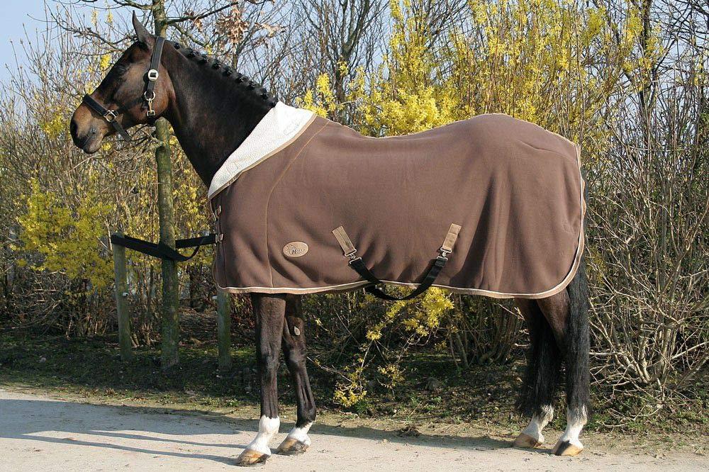 Harry's Horse 32200393-03165 cm - Manta de Forro Polar (Cuello de 1/2), Color marrón