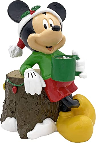The Galway Company Disney Mickey Mouse Garden Statue Drinking Cocoa