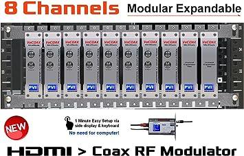 8 Canales hdmi modulador – vecoax Hoja 8 – distribución de vídeo HDMI Sobre TV Coax Cable para Todos los televisores en Cada Pieza – codificación Full HD 1080p con Dolby: Amazon.es: Electrónica