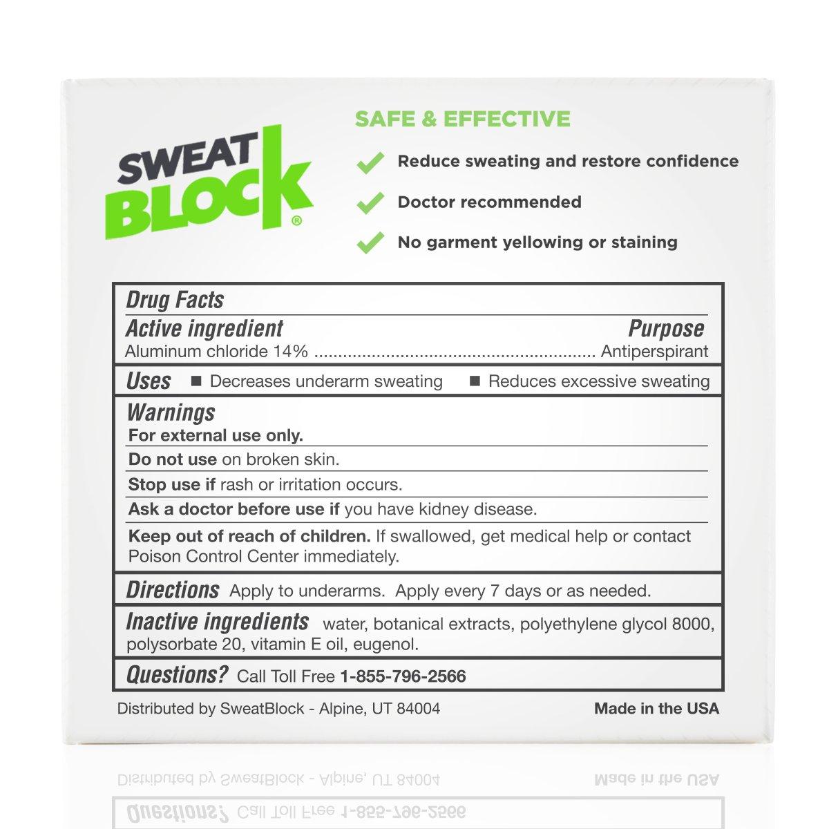 SweatBlock Antiperspirant - Clinical Strength - Reduce Sweat up to 7-days per Use by SweatBlock (Image #2)