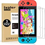 [3 Pack] Screen Protector Tempered Glass for Nintendo Switch, iVoler Transparent HD Clear Anti-Scratch Screen Protector Compa