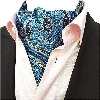YCHENG Pañuelo Hombre Jacquard Ascot Paisley Corbatas Vintage ...