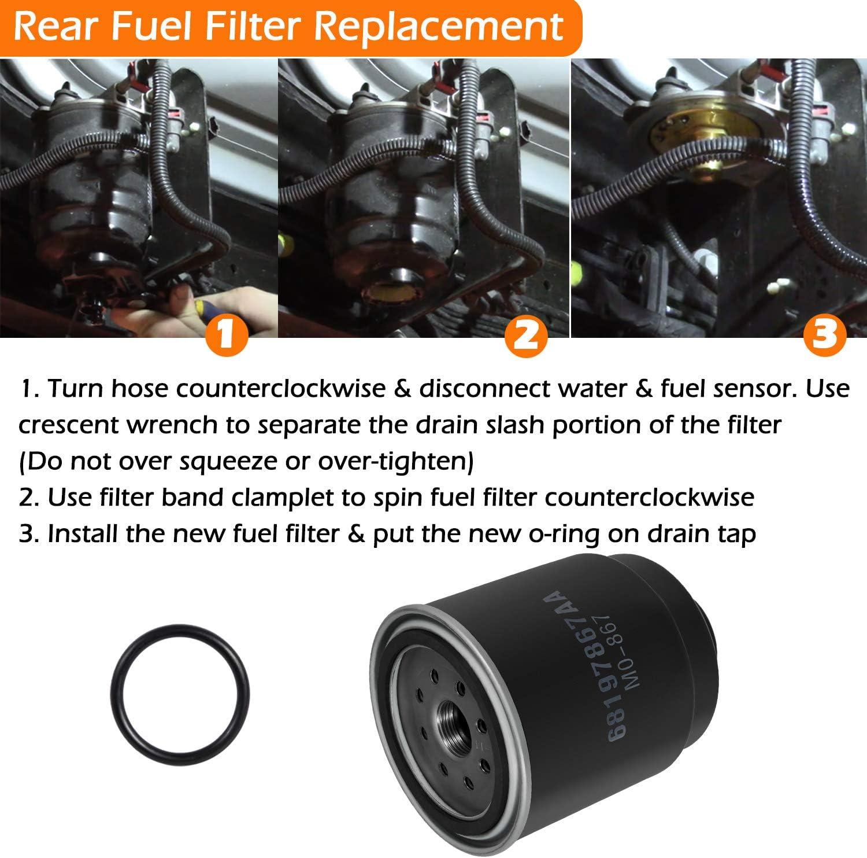 Bonbo 6.7L Cummins Fuel Filter Water Separator /& Oil Filter Set for Dodge Ram 6.7L 2500 3500 4500 5500 Turbo Diesel Engines Replace 68197867AA 68157291AA 05083285AA