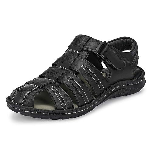 mens black fisherman sandals