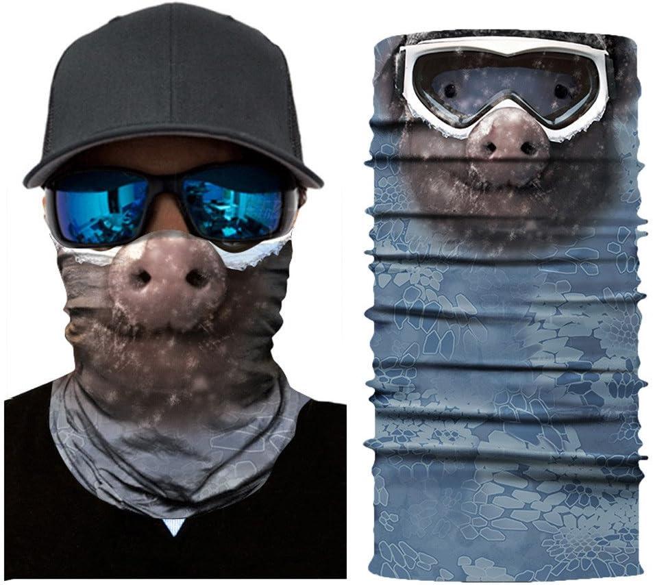 3D Multifunctional Protective Face Mask Cycling Scarf Outdoor Face Shield Headwear Windproof Hiking Headband Running Head Wrap Skiing Warm Neck Gaiter Snowboarding Bandana Balaclava UV Protection