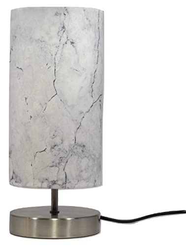 Marble Effect Table Lamp Light Lampshade Bedroom Bedside Lamps