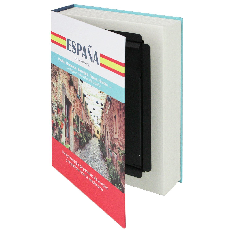 'HMF 80945 livre coffre-fort, pour piè ces de monnaie camouflé e, Pages vraies'españ a, 23 x 15 x 4 cm, inscriptions les pour pièces de monnaie camouflée Pages vraiesespaña 23x 15x 4cm