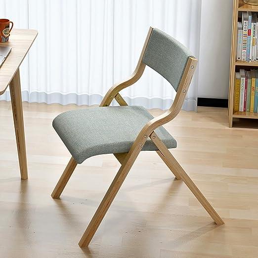 Amazon.com: Wghbd Folding Chair Solid Wood Dining Chair ...