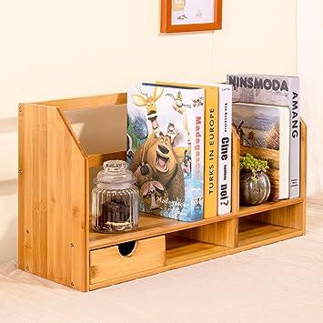 L&Y Muebles de Cocina Estantes Estantes Simples Cajas De Almacenamiento De Bambú Oficina Escritorio Estantes Pequeños