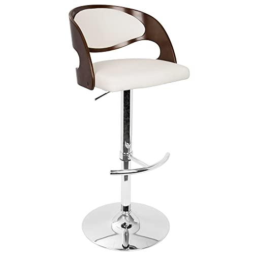 LumiSource Pino Barstool, Cherry and White