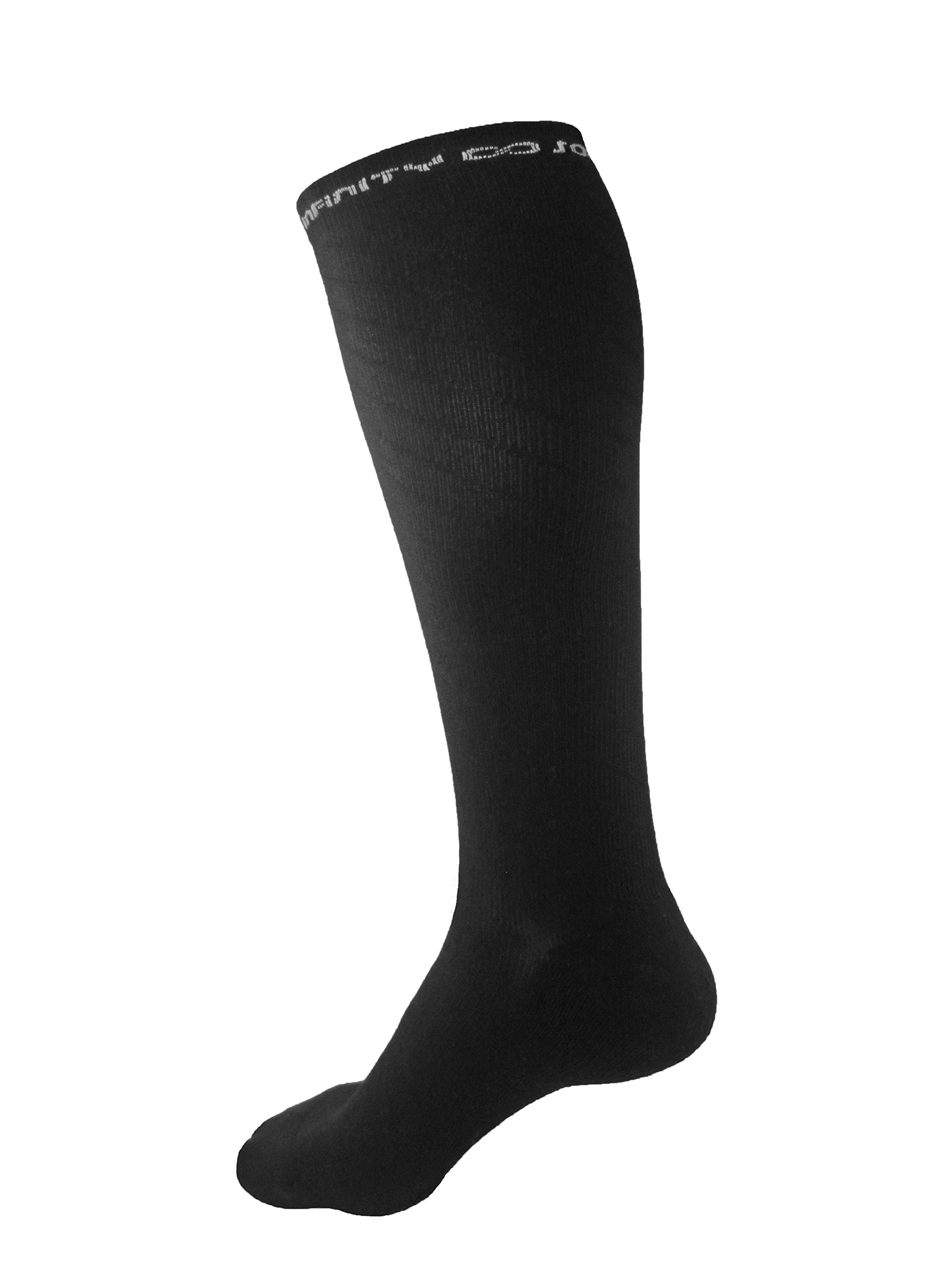 Compression Socks (Large/X Large) HIGH QUALITY Socks for Men & Women (20-30 mmhg) Graduated compression. Diagonal stitch. BEST for Running, Sports, Nurses, Recovery, Travel, Maternity, Pregnancy