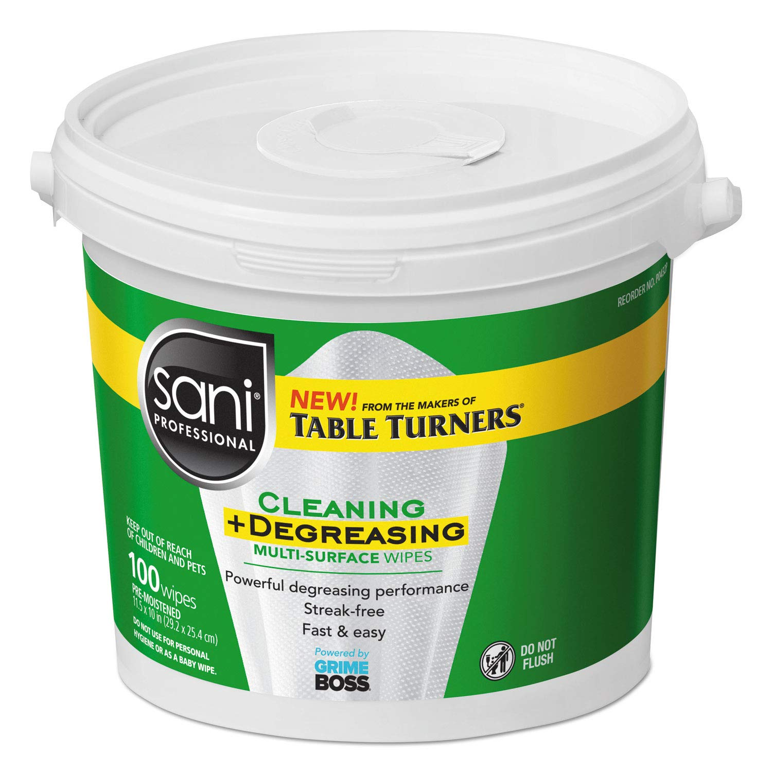 Cleaning + Degreasing Multi-Surface Wipes 2 Pail - 100 Ct Each