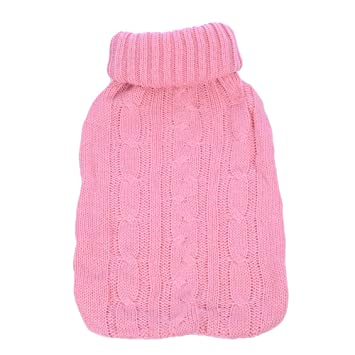 Pink Knitted Insulator Cover only TRIXES Knitted Cover for Hot Water Bottle Hot Water Bottle not Included