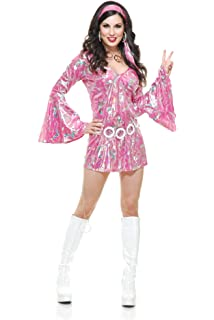 Charades Womens Disco Queen Costume Dress