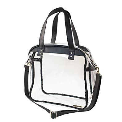 Capri Designs Carryall Tote - Black   Clear Stadium Approved Premium  Shoulder Bag 0b82469cda6f5