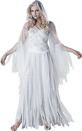 Disfraz de fantasma elegante para mujer: Amazon.es: Juguetes y juegos
