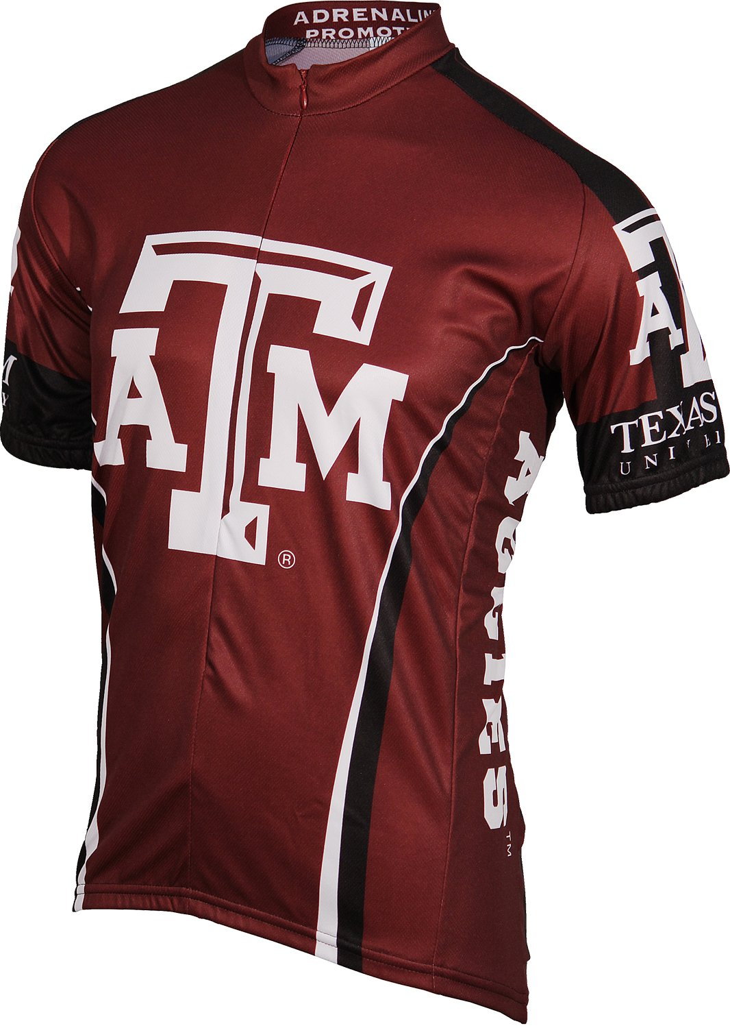 NCAA Texas A&M Cycling Jersey,Large(maroon/white)