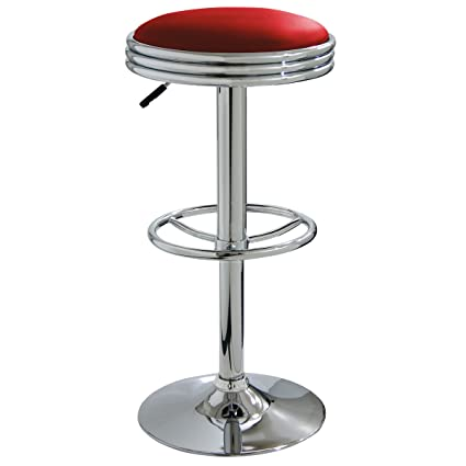 Amazon Com Amerihome Bs1208r Soda Fountain Bar Stool Red Patio Dining Chairs Garden Outdoor