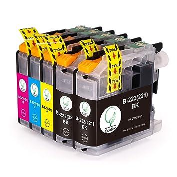 LC223XL Compatible para Cartuchos de Tinta Brother LC223, Pack de ...