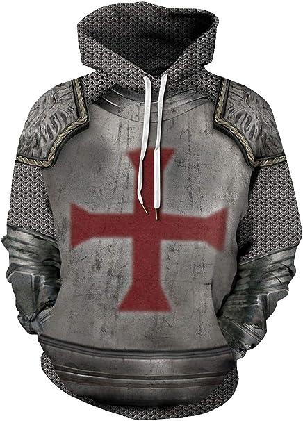 icewalker Unisexo Sudaderas con Capucha 3D Disfraz de Templario ...