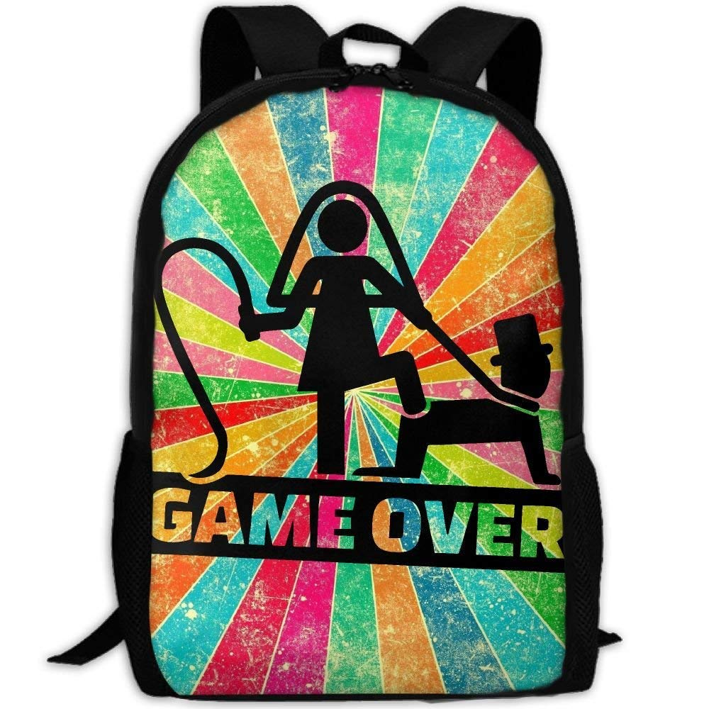 YIXKC Backpack for Adults Wedding Couple Game Over For The Man Unique