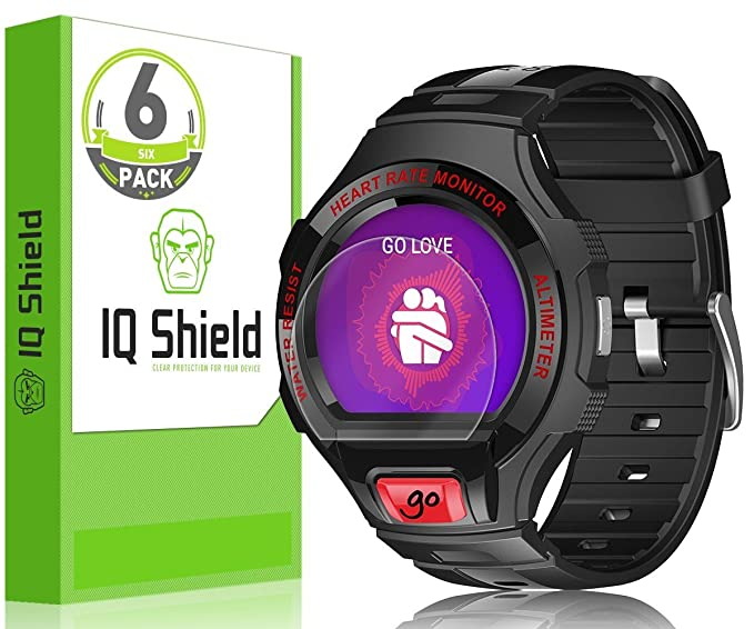 IQ Shield LiQuidSkin (6-Pack) Full Coverage Screen Protector for Alcatel OneTouch Go Watch HD Clear Anti-Bubble Film
