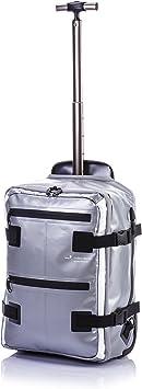 Hideo Wakamatsu Tarpaulin Hybrid Backpack Trolley Suitcase Silver Amazon Ca Luggage Bags