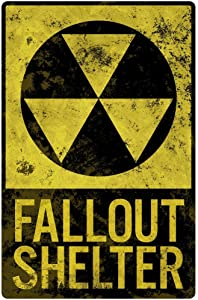 Fallout Shelter Vintage Style Sign Cool Wall Decor Art Print Poster 24x36