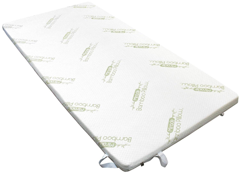 Surmatelas à mémoire de forme - Anti-allergique - Fibre de bambou - 90x190 cm