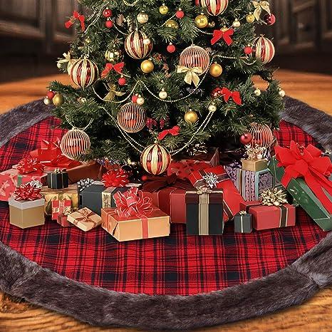 RTBB Weihnachtsbaum-Rock Dekoration weiche Pl/üschmatte f/ür Weihnachten 3D-Heulender Totenkopf und Schlange Party 121,9 cm Urlaubsdekoration