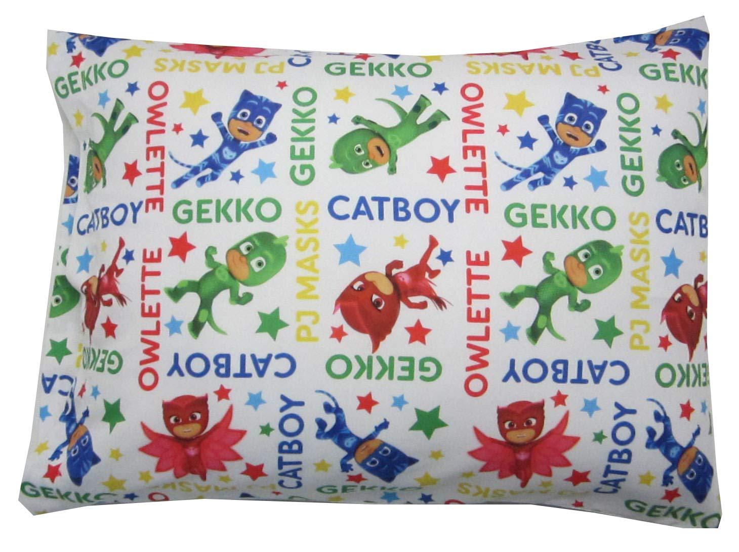 Toddler Pillowcase 16x20 PJ Masks Catboy Owlete Gekko Fits Size 14x19 Pillow Kids Bedding