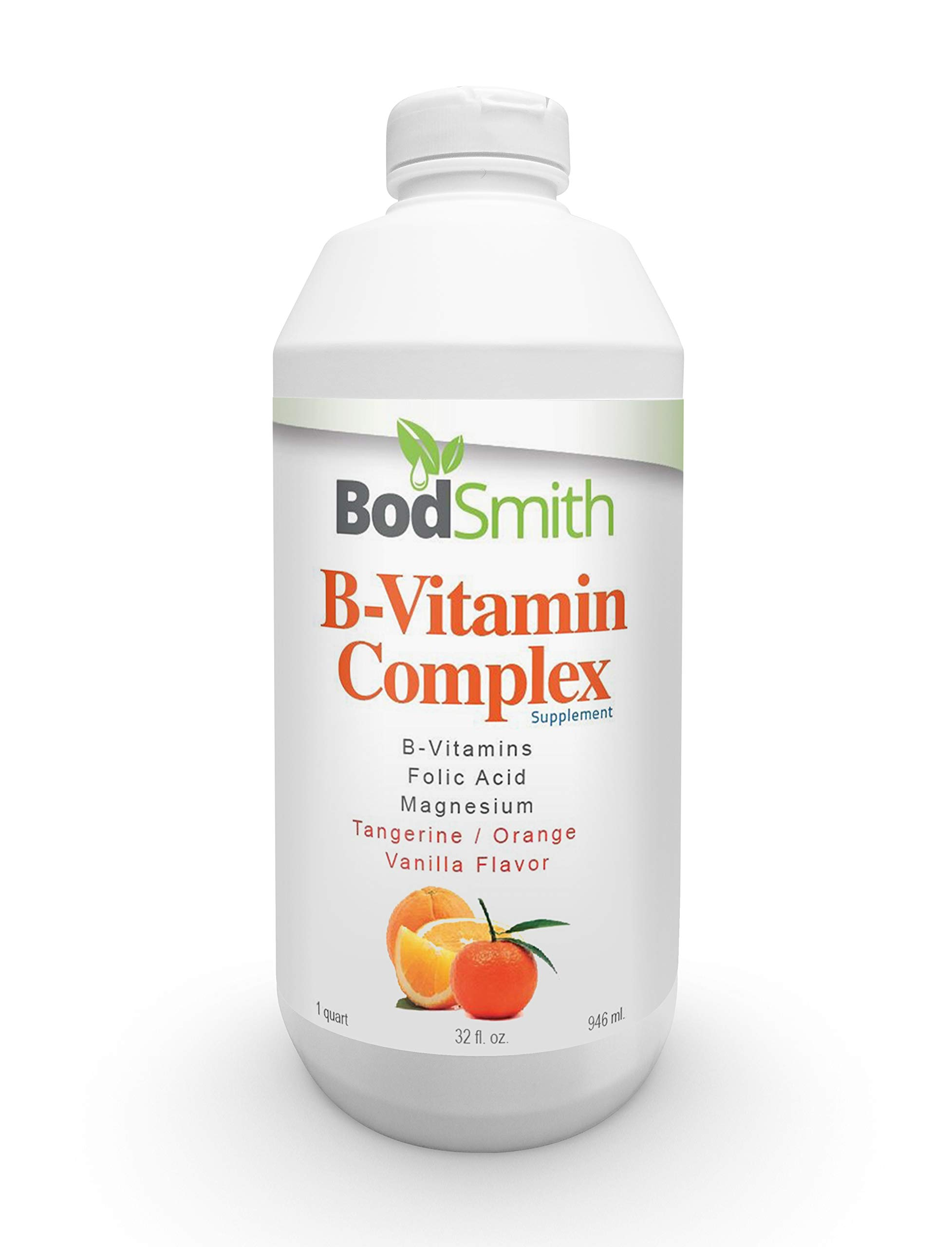 Liquid B-Vitamin Complex by BodSmith This B-Vitamin Complex Vitamin Provides a Natural Energy Boost Without stimulants or Resulting in a Caffeine Crash.